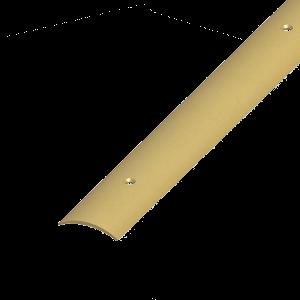 ÁTMENET-PROFIL ÍVELT PVC SÁRGARÉZ 30X5 1M CSAVAROZHATÓ