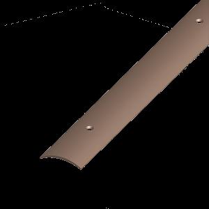 ÁTMENET-PROFIL ÍVELT PVC BARNA 30X5 1M CSAVAROZHATÓ