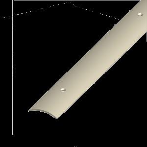 ÁTMENET-PROFIL ÍVELT PVC BARNABÉZS 30X5 1M CSAVAROZHATÓ