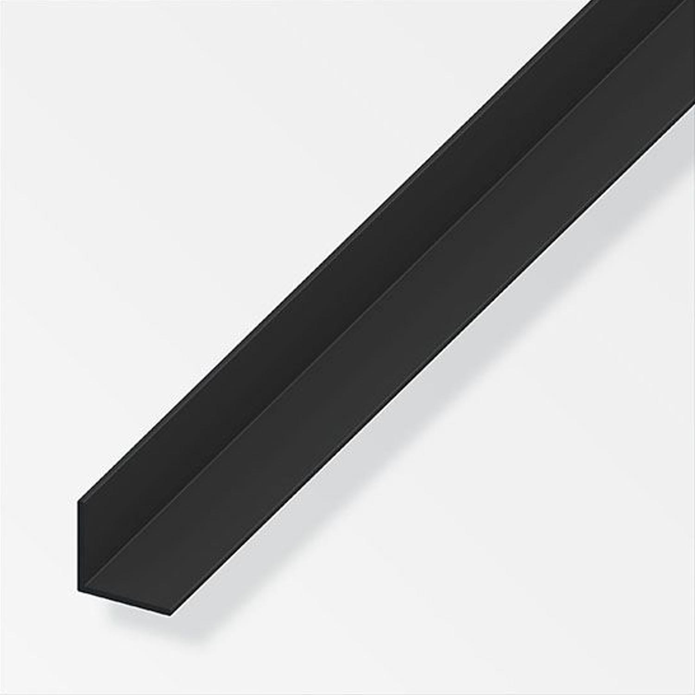 l profil pvc fekete 20x20x1 5 1m lemez profil sz gvas. Black Bedroom Furniture Sets. Home Design Ideas