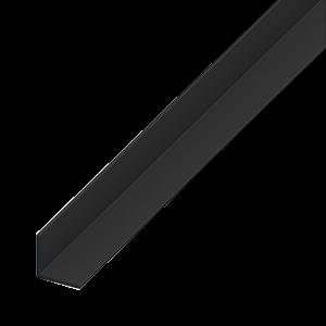 L-PROFIL PVC FEKETE 20X20X1,5 1M
