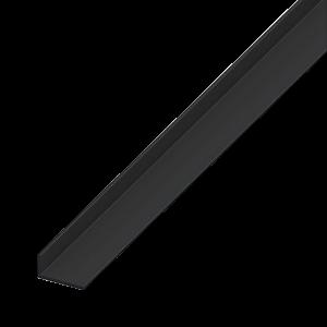 L-PROFIL PVC FEKETE 20X10X1,5 1M