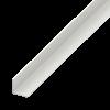 L-PROFIL PVC FEHÉR 20X20X1,5 1M