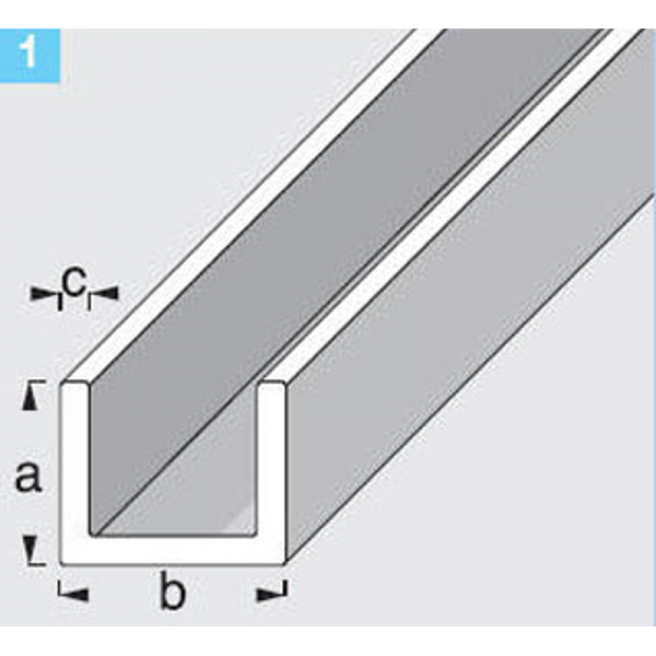 u profil pvc feh r 10x18x1mm 1m lemez profil sz gvas. Black Bedroom Furniture Sets. Home Design Ideas