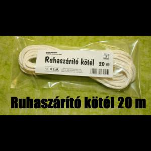 RUHASZÁRÍTÓ KÖTÉL PP 20M