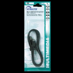 MIKRO USB ÖSSZEKÖTŐ KÁBEL USB(A)-USB MIKRO (B) 1M