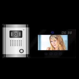 VIDEO KAPUTELEFON 7˝, LCD, BEÉPÍTETT DIGITÁLIS ÓRA