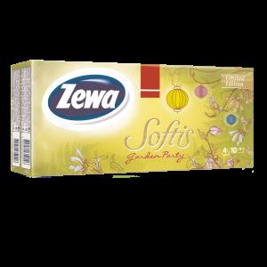 ZEWA SOFTIS, PAPÍR ZSEBKENDŐ 10X9 GARDEN PARTY