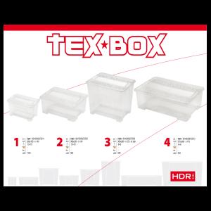 TEX BOX TÁROLÓDOBOZ, TETŐVEL 38X28X14CM