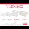 TEX BOX TÁROLÓDOBOZ, TETŐVEL 57X38X17CM