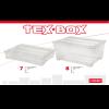 TEX BOX TÁROLÓDOBOZ TETŐVEL 78,5X59X40,5CM
