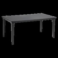 'Futura' 6 személyes műanyag asztal antracit színben, 165x95x75cm