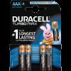 DURACELL TURBO MAX 4DB AAA ELEM DL 5000394010369