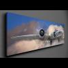 PANORÁMA VÁSZONKÉP B-17 BOMBÁZÓ A FELHŐK FELETT 90X30CM