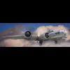 PANORÁMA VÁSZONKÉP B-17 BOMBÁZÓ A FELHŐK FELETT 120X40CM