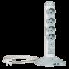 ELOSZTÓOSZLOP 4 ALJZAT, 2 USB, 1 MICRO USB, 2 M VEZETÉKKEL