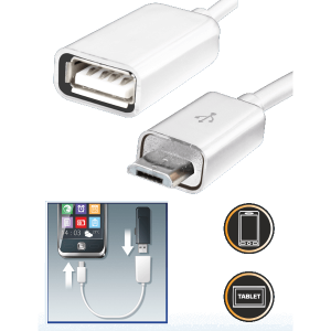 OTG KÁBEL MICRO USB DUGÓ USB ALJZAT