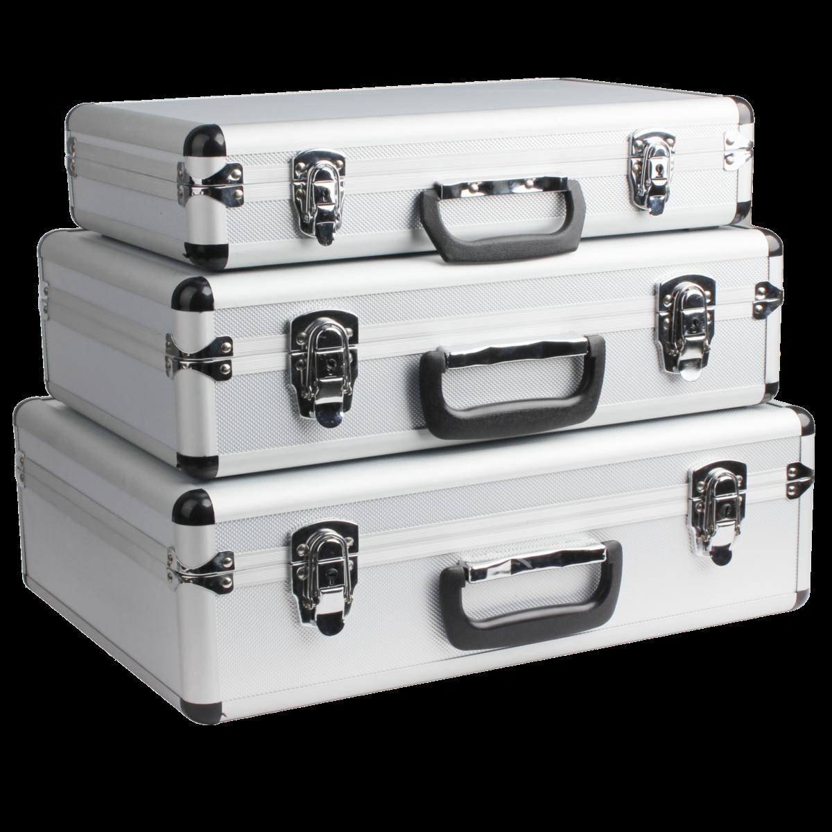 alu szersz mtart koffer szett 3 r szes koffer t rol s. Black Bedroom Furniture Sets. Home Design Ideas