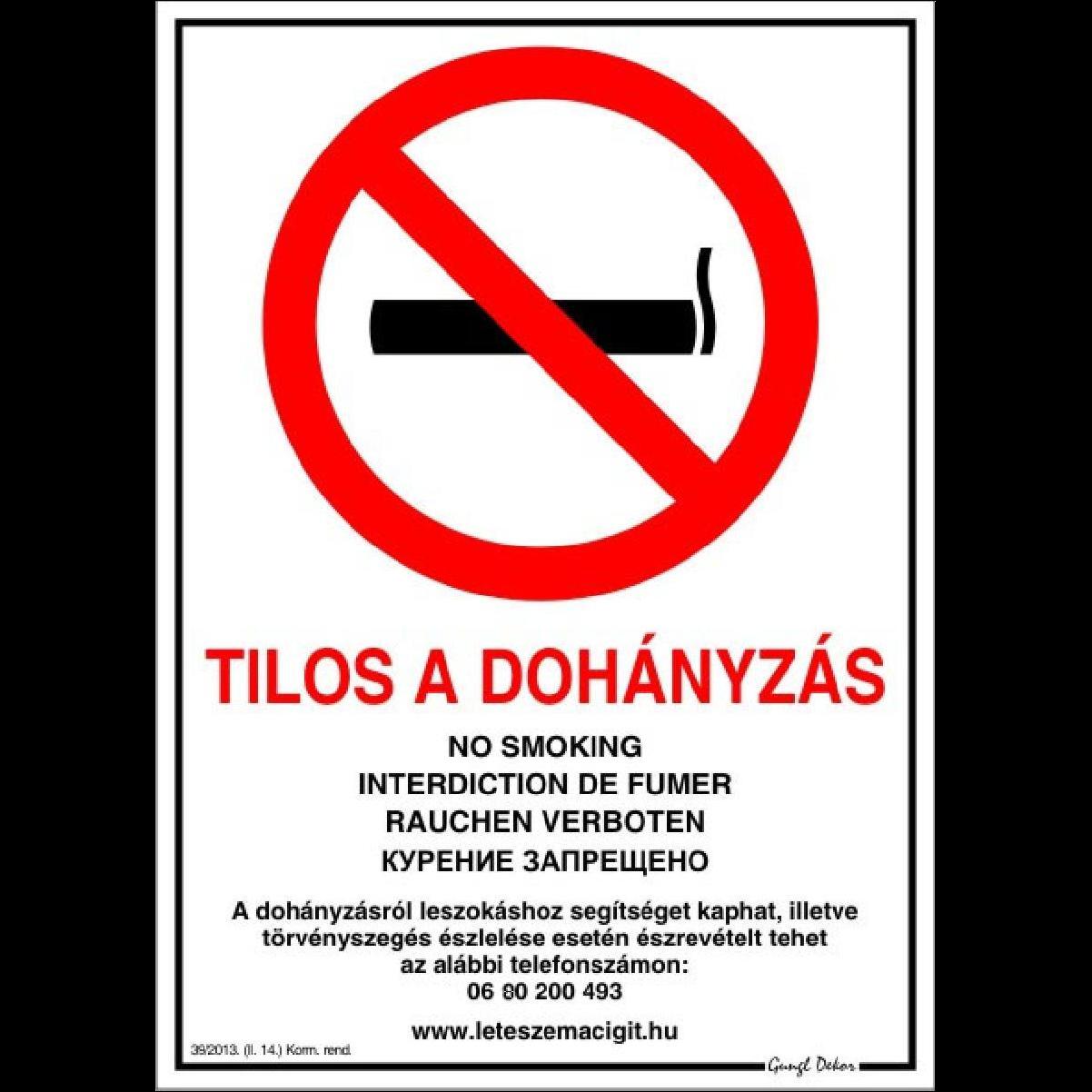 tilos a dohányzás napja