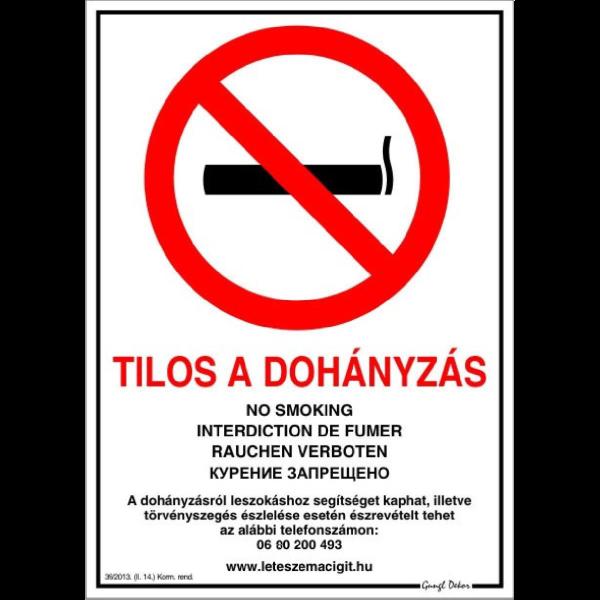 a dohányzásról tilos)