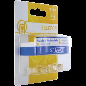 TELEFON CSATLAKOZÓ DUGÓ RJ11 6P4C 4DB/CSOMAG