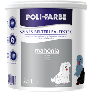 POLI-FARBE BELTÉRI FALFESTÉK 2,5L MAHÓNIA
