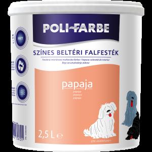 POLI-FARBE BELTÉRI FALFESTÉK 2,5L PAPAYA