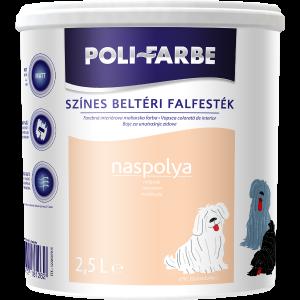 POLI-FARBE BELTÉRI FALFESTÉK 2,5L NASPOLYA