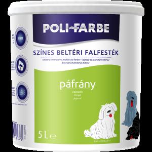POLI-FARBE BELTÉRI FALFESTÉK 5L PÁFRÁNY