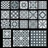 TACO HERITAGE BLACK MATT PADLÓLAP 0,55M2/CS 16,5X16,5CM