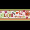 KIDS&TEENS BORDŰR LOVE&PEACE 478501 24X500CM