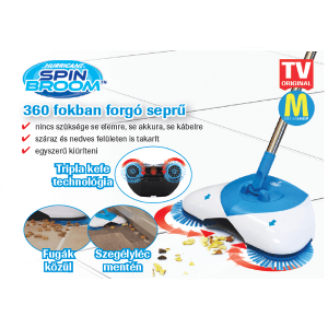 HURRICANE SPIN BROOM FORGÓKEFÉS MECHANIKUS SEPRŰ