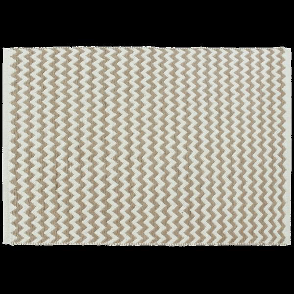 DARABSZŐNYEG ZIG ZAG 70X140 CM BARNA/BEIGE