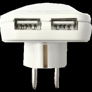 ADAPTER 2 USB CSATLAKOZÓVAL DC 5V MAX. 2100MA SZÍNES