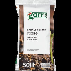 GARRI TŐZEG DARÁLT FEKETE 50L