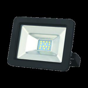 SLIM LED REFLEKTOR 10W 850LM IP65 4000K FEKETE, GUMI KÁBEL