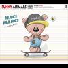 DIGITÁLIS NYOMAT FUNNY ANIMALS - MACI MARCI 40X50 CM