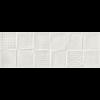 REMAKE DEKOR CSEMPE 25X70CM 3D FEHÉR MATT 1,23M2/CS