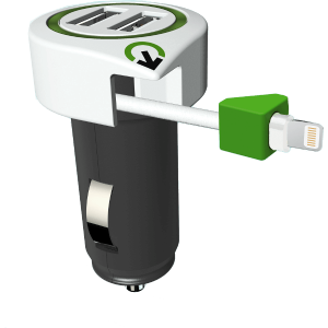 AUTÓS USB TÖLTŐ - TRIPLE USB CAR CHARGER LIGHTNING CONNECTOR