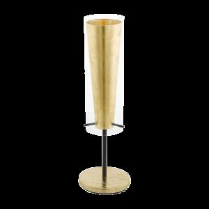 PINTO GOLD ASZTALI LÁMPA E27 1X60W FEKETE ARANY FÉNYF.NÉLKÜL 867cb24b81