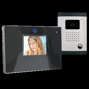 SZÍNES VIDEO KAPUTELEFON 3,5˝ LCD KIJELZŐVEL, DF-629TS+OUT9