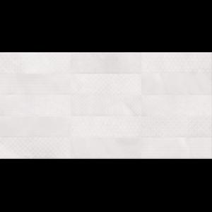 CARLY STRUKTURÁLT FALI CSEMPE 29,7X60CM FEHÉR 1,25M2/CS
