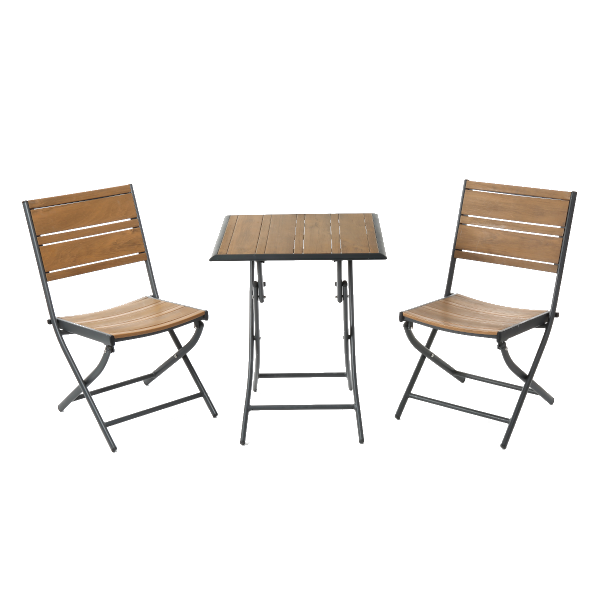fémlábu asztal két székkel praktiker