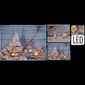 VÁSZONKÉP LED-EL, 40X30X1,5 CM
