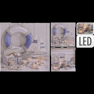 VÁSZONKÉP LED-DEL 30X30X1,5CM TENGER