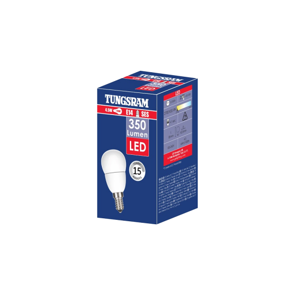 TUNGSRAM LED GÖMB 4,5W E14 350LM 15000 ÓRA, 2700K (30W) Outlet