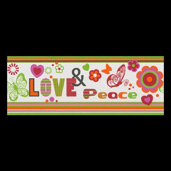 KIDS&TEENS BORDR LOVE&PEACE 478501 24X500CM Outlet