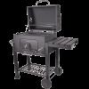 DELUXE FASZENES BBQ GRILL KERÉKKEL 117,5X66X107,5CM *310597,299155* Outlet