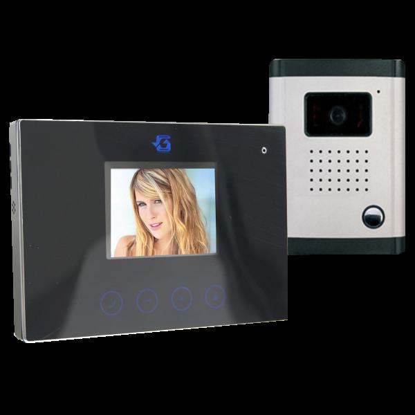 SZÍNES VIDEO KAPUTELEFON 3,5˝ LCD KIJELZŐVEL, DF-629TS+OUT9 (270800) Outlet