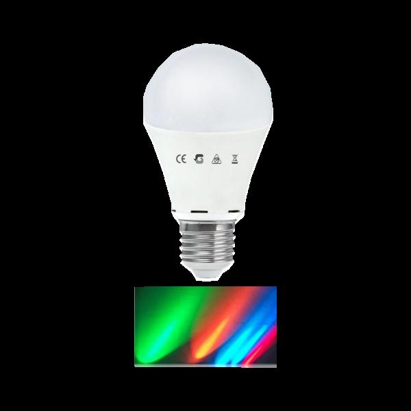 LED IZZÓ A60 7,5W E27 RGBSZÍNVÁLTÁS 2,5MÁSODPERCENKÉNT 25000 ÓRA Outlet